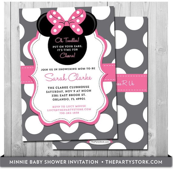 minnie mouse baby shower invites baby shower minnie mouse invitation