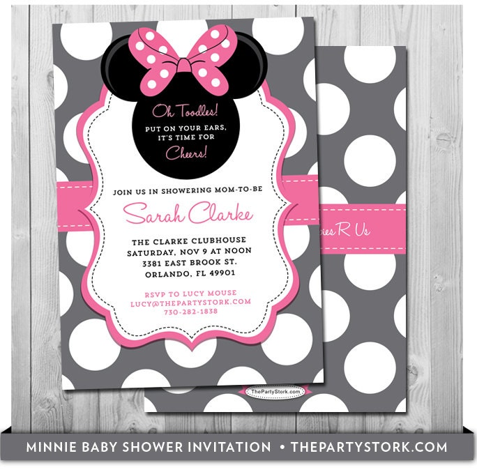 minnie mouse baby shower invites baby shower minnie mouse