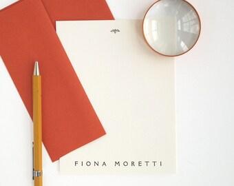 REGATTA Letterpress Stationery  - Classic Style - Flat Note Cards - Custom Printed RIalto