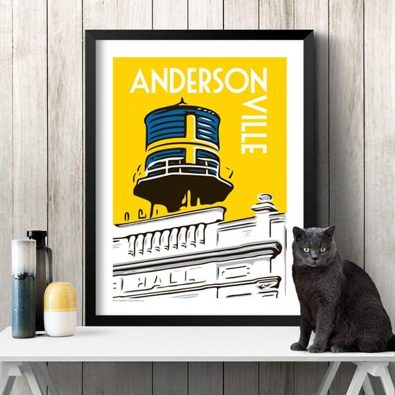 ANDERSONVILLE Chicago Neighborhood Poster
