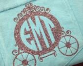 Women's SHORT SLEEVE Comfort Colors carriage pocket tee tank lagoon blue cinderella