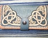 Celtic long wallet./ roper wallet. (0001) ships same day as ordered.