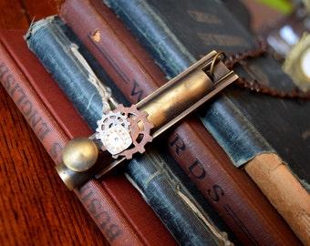 Steampunk Jewelry, Statement Necklace, Door lock Necklace, Steampunk Necklace, alice in wonderland, Disney Jewelry, Statement Jewelry,