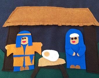 Giant Felt Nativity Set