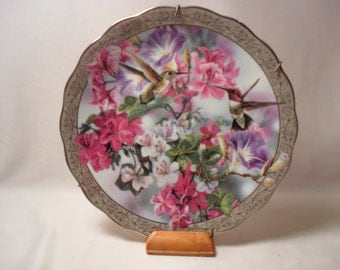 Morning Glory Plate from Whispering Wings Collection by Janene Grende
