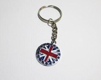 Union Jack Keychain, British Keychain, Flag Keychain