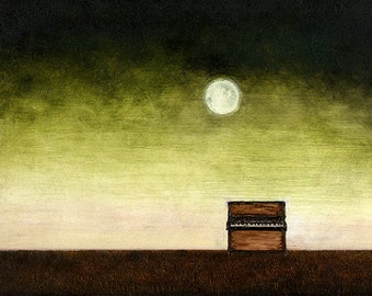 "Art print // Piano - moonlight // ""Alejandra's piano"""