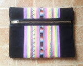 SALE Handmade zippered pencil case