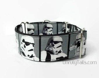 """2"""" Wide Stormtrooper Dog Collar - Martingale Collar or Buckle Collar"""