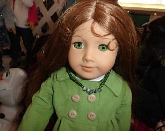 Green Pea Coat for American Girl