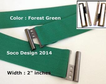 Forest Green Belt, Women belt, Waist belt, Stretch waist belt, Elastic waist belt, Stretchy waist belts, girl elastic belt