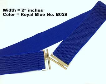 Blue Elastic Belt, Women belt, Waist belt, Stretch waist belt, Elastic waist belt, Stretchy waist belts, girl elastic belt