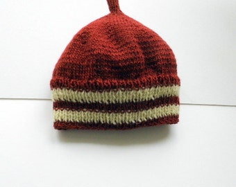 Baby hat, Cap, hat, baby caps, red, knitting
