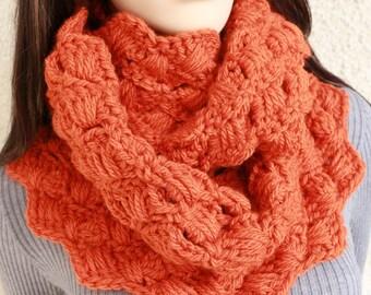 Crochet Infinity Scarf PATTERN, Chunky Scarf Pattern, Autumn Scarf, DIY Gift For Her, Instant Download, PDF Pattern #103, Lyubava Crochet