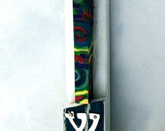 Musical Mezuzah Mezuzot Handmade from metals plastic hardwoods paint piano keys