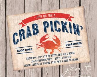 Crab Invitations