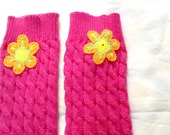 SALE----GIRLS LEG Warmers -- hot pink leg warmers-womens leg warmers