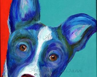 Border Collie - Dock dog  -Limited Edition - Dog Art -Art Print from Original Art - Dog Portrait - Dog Lovers