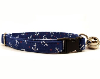 Cat or Small Dog Collar Anchors in Navy