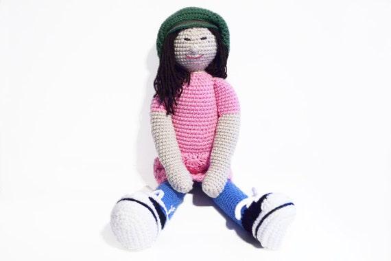 Doll Crocheted Doll Amigurumi Doll 2 Feet Tall by naomisjoy