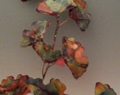 Large Copper Ginkgo branch: This handcrafted metal sculpture,home decor,
