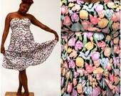 vintage strapless tulip dress Size 10 Size 12