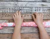 Pink keyboard wrist rest. Soft cotton wrist pad for office.
