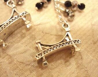 Sterling Silver Bridge Earrings