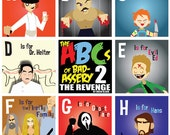 ABCs of Bad-Assery Part 2 /  3 Posters / 26 Prints / of Killers from Horror & Action movies