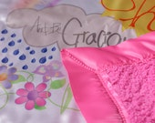 May the Lord Be Gracious to You, pink, baby security blanket
