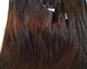 Micro Loop Hair Extensions in Brown Brunette #04 18 Inches