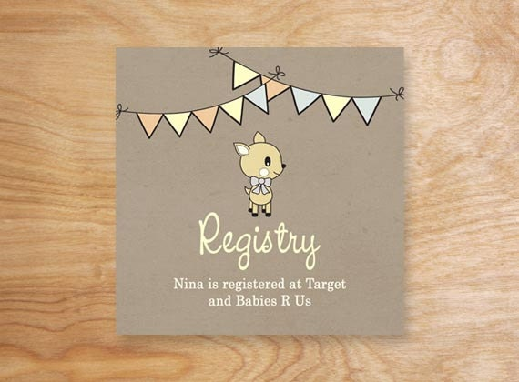 items similar to printable enchanted forest baby shower registry card woodland baby shower registry insert digital file on etsy