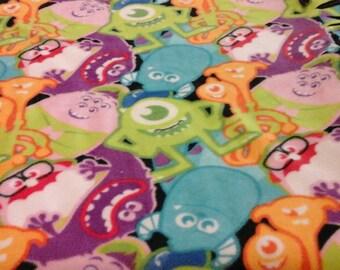 Monsters Inc. Fleece Tie Blanket           SALE! ! ! ! ! ! ! ! !