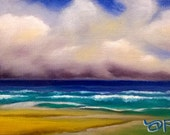 Ocean Early Afternoon - Oil on Canvas Panel - 5 x 7 inches