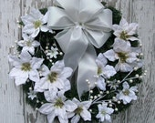 Winter Wreath, White Wreath, Winter Decor, Winter Wedding Wreath, White Christmas Wreath, Elegant Christmas Wreath, Winter Floral Wreath
