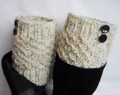 Knit Boot Cuff, Oatmeal color, wellies boot cuff , knit leg warmers,,available in other colors, Christmas gift, Valentines gifts