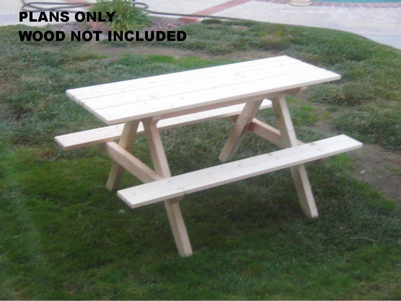 Outdoor Picnic Table : DIY PLANS to make Kids Picnic Table Outdoor by wingstoshop