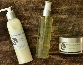 The Everyday Package - Natural Skin Care, CLeanser, Toner, Moisturizer