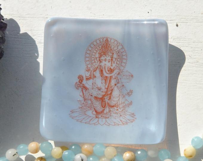 Lavender Ganesh/Ganesha Mini Fused Glass Dish
