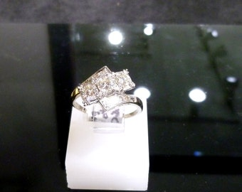 Ladies, Vintage, Estate, 14K, White Gold, Diamond, Ring