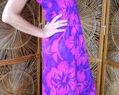 Beautiful vintage Hawaiian muu muu / maxi dress