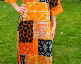 Lovely long lush Kiyomi of Hawaii muu muu / maxi dress
