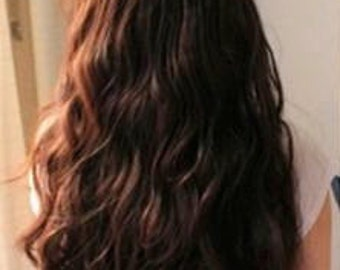 Dark Brown HEAT FRIENDLY Clip-in Extension // Synthetic Hair