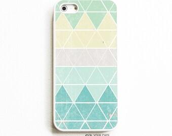 Rubber iPhone 5 Case. iPhone 5S Case. Geometric Mint. iPhone 5 Cases. iPhone 5S Cases. Rubber Phone Case.
