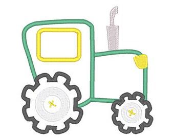 Applique Tractor Embroidery Design