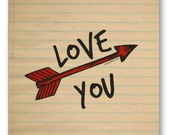 Love You card - Old School ,Valentines, Love, Notes, Paper, Birthday, Holidays, Cards, Notes, Anniversary, Heart, Gifts, Him, Her, LGBTQ