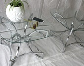 Pair of Chrome & Glass Side Tables - Baughman Era