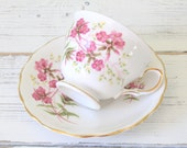 Tea Set, Vintage English Bone China by Royal Vale, Tea Cup and Saucer, Gifts for Her, Little Princess, Replacement China