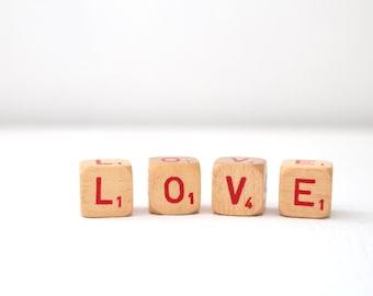 Love Word Block Letter Cubes Rustic Wedding Prop Vintage Wedding Inspiration