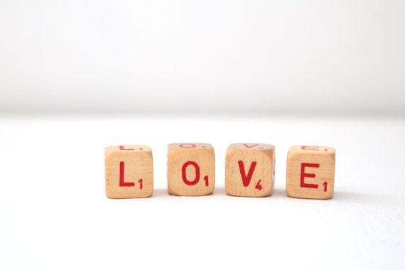 Love Word Block Letter Cubes Rustic Wedding By MariasFarmhouse